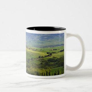 Italy, Tuscany. Scenic of the Tuscan Two-Tone Coffee Mug