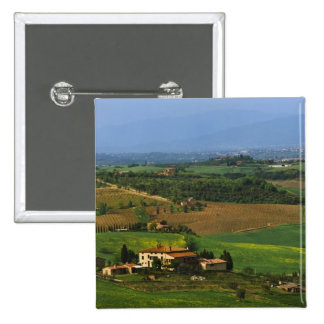 Italy, Tuscany. Scenic of the Val d'Orcia Pinback Button