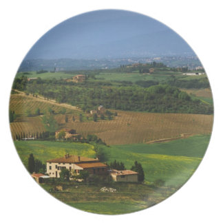 Italy, Tuscany. Scenic of the Val d'Orcia Dinner Plates