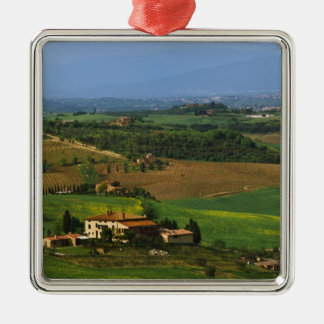 Italy, Tuscany. Scenic of the Val d'Orcia Metal Ornament