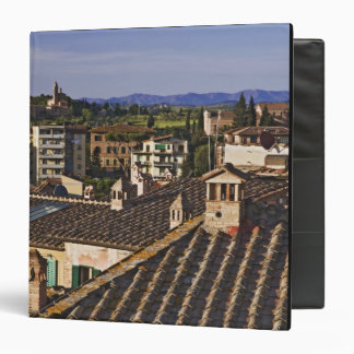 Italy, Tuscany, Siena. Rooftop view of city 3 Ring Binder