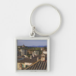 Italy, Tuscany, Siena. Rooftop view of city Keychain