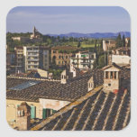 Italy, Tuscany, Siena. Rooftop view of city Square Stickers