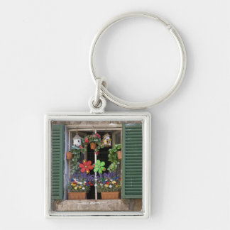Italy, Tuscany, Siena, Window of a house in Keychain