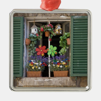 Italy, Tuscany, Siena, Window of a house in Metal Ornament