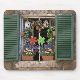 Italy, Tuscany, Siena, Window of a house in Mouse Pad