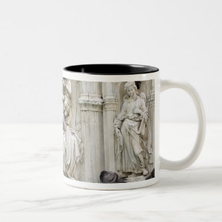 Italy, Tuscany, Sienna. Statues and birds on Two-Tone Coffee Mug