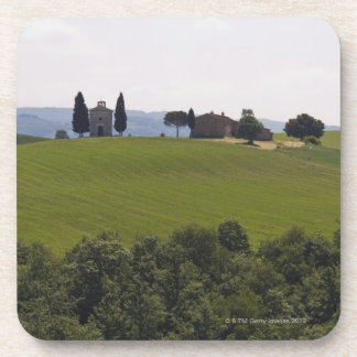 Italy, Tuscany, Val D'Orcia, Landscape 2 Drink Coaster