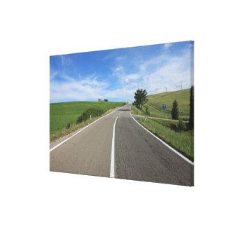 Italy, Tuscany, Val d'Orcia, Road Canvas Print