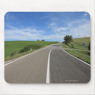 Italy, Tuscany, Val d'Orcia, Road Mouse Pad
