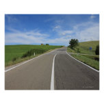 Italy, Tuscany, Val d'Orcia, Road Posters