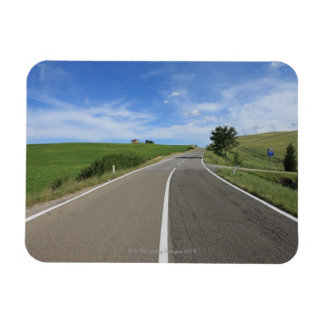 Italy, Tuscany, Val d'Orcia, Road Rectangular Photo Magnet