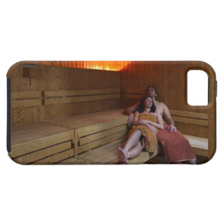 Italy, Tuscany, Young couple relaxing in sauna iPhone SE/5/5s Case