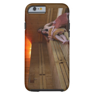 Italy, Tuscany, Young couple relaxing in sauna Tough iPhone 6 Case