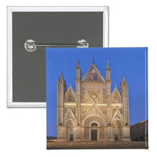 Italy, Umbria, Orvieto, Orvieto Cathedral 2 Inch Square Button