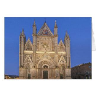 Italy, Umbria, Orvieto, Orvieto Cathedral Greeting Card