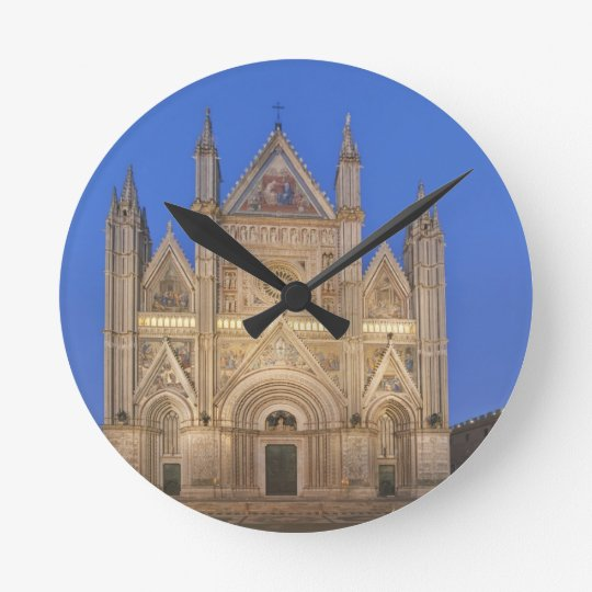Italy, Umbria, Orvieto, Orvieto Cathedral Round Clock