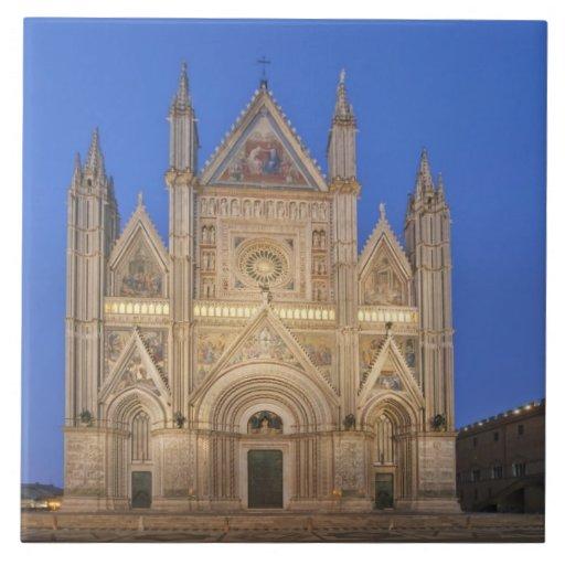 Italy, Umbria, Orvieto, Orvieto Cathedral Ceramic Tile