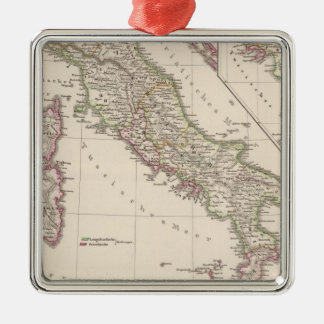 Italy under the Lombards Square Metal Christmas Ornament