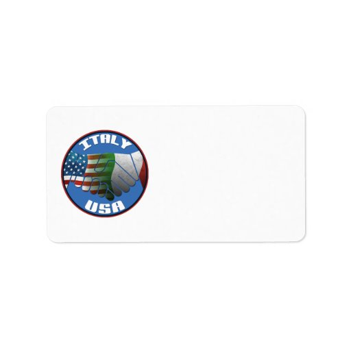 Italy USA Address Labels