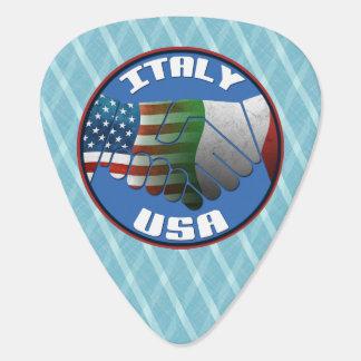 Italy USA Italian American Guitar Pick