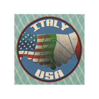 Italy USA Italian American Wood Print