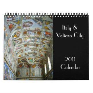 italy & vatican 2011 calendar