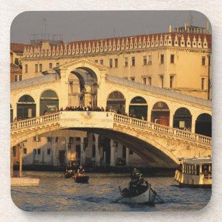 Italy Veneto Venice Canal Grande and Rialto Drink Coaster