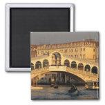 Italy, Veneto, Venice, Canal Grande and Rialto Magnet