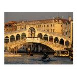 Italy, Veneto, Venice, Canal Grande and Rialto Postcard