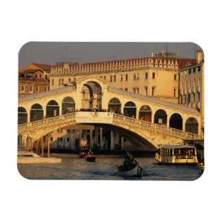 Italy, Veneto, Venice, Canal Grande and Rialto Rectangular Photo Magnet