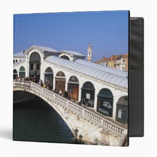 Italy, Veneto, Venice, Rialto Bridge crossing 3 Ring Binder