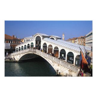 Italy, Veneto, Venice, Rialto Bridge crossing Photo Print