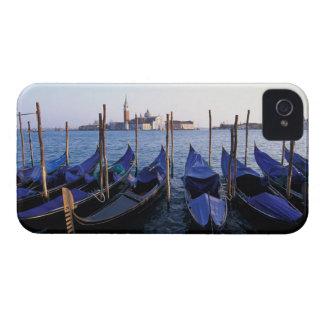 Italy, Veneto, Venice, Row of Gondolas and San iPhone 4 Case