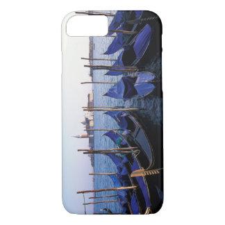 Italy, Veneto, Venice, Row of Gondolas and San iPhone 8/7 Case