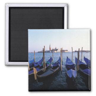 Italy, Veneto, Venice, Row of Gondolas and San Fridge Magnets