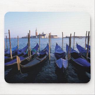 Italy, Veneto, Venice, Row of Gondolas and San Mouse Pad