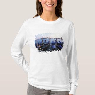 Italy, Veneto, Venice, Row of Gondolas and San T-Shirt