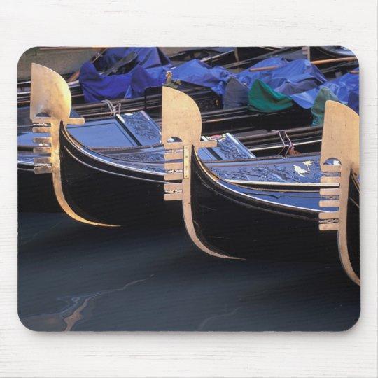 Italy, Veneto, Venice. Row of Gondolas. Mouse Pad