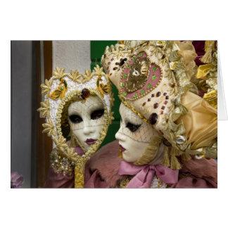 Italy, Venice, Burano Island. Woman dressed in Card