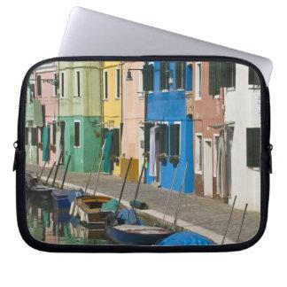 Italy, Venice, Burano. Multicolored houses along 2 Laptop Sleeve