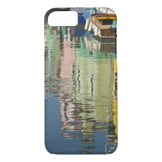 Italy, Venice, Burano. Multicolored houses along iPhone 8/7 Case