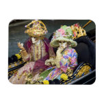 Italy, Venice. Couple dressed in costumes for Rectangular Photo Magnet