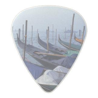 Italy, Venice. Gondolas. Acetal Guitar Pick