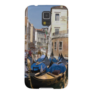Italy, Venice, gondolas moored along canal Cases For Galaxy S5