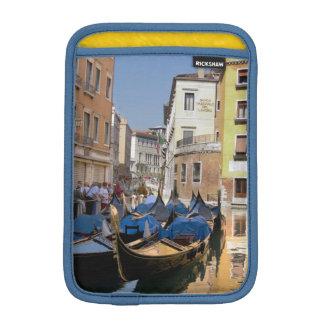 Italy, Venice, gondolas moored along canal iPad Mini Sleeve
