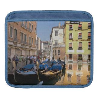 Italy, Venice, gondolas moored along canal iPad Sleeves
