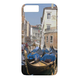 Italy, Venice, gondolas moored along canal iPhone 7 Plus Case