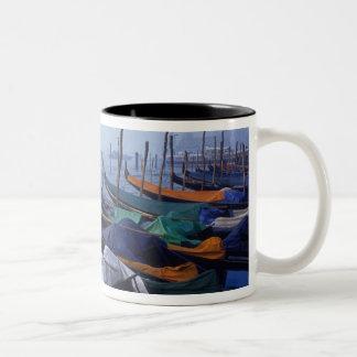 Italy, Venice. Gondolas. Two-Tone Coffee Mug