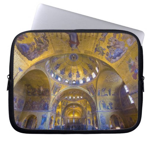 Italy, Venice. Interior of St. Marks Cathedral. Computer Sleeve